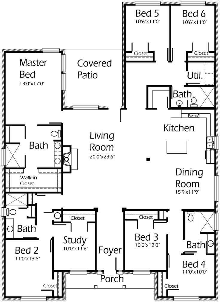 Floor Plans Bedroom House Bedrooms Bathroom