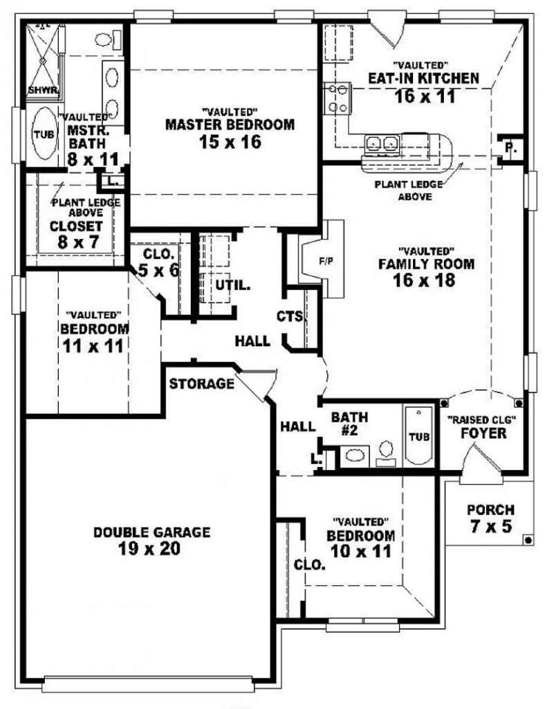 Floor Plans Bedroom House Garage Best Design Ideas