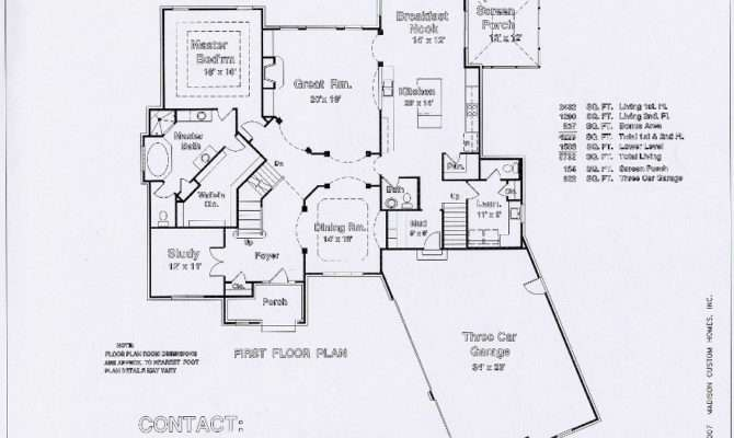 Floor Plans Blueprints First Great Room Kitchen Dining