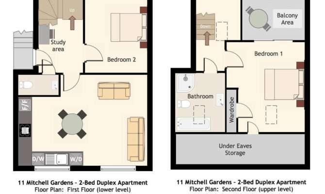 Floor Plans Duplex Apartments