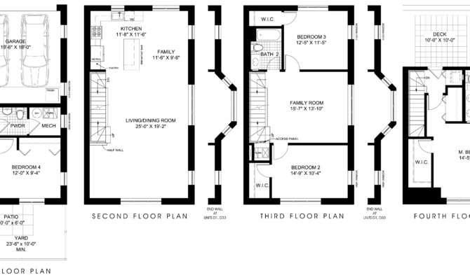Floor Plans Home Design Ideas Townhouse