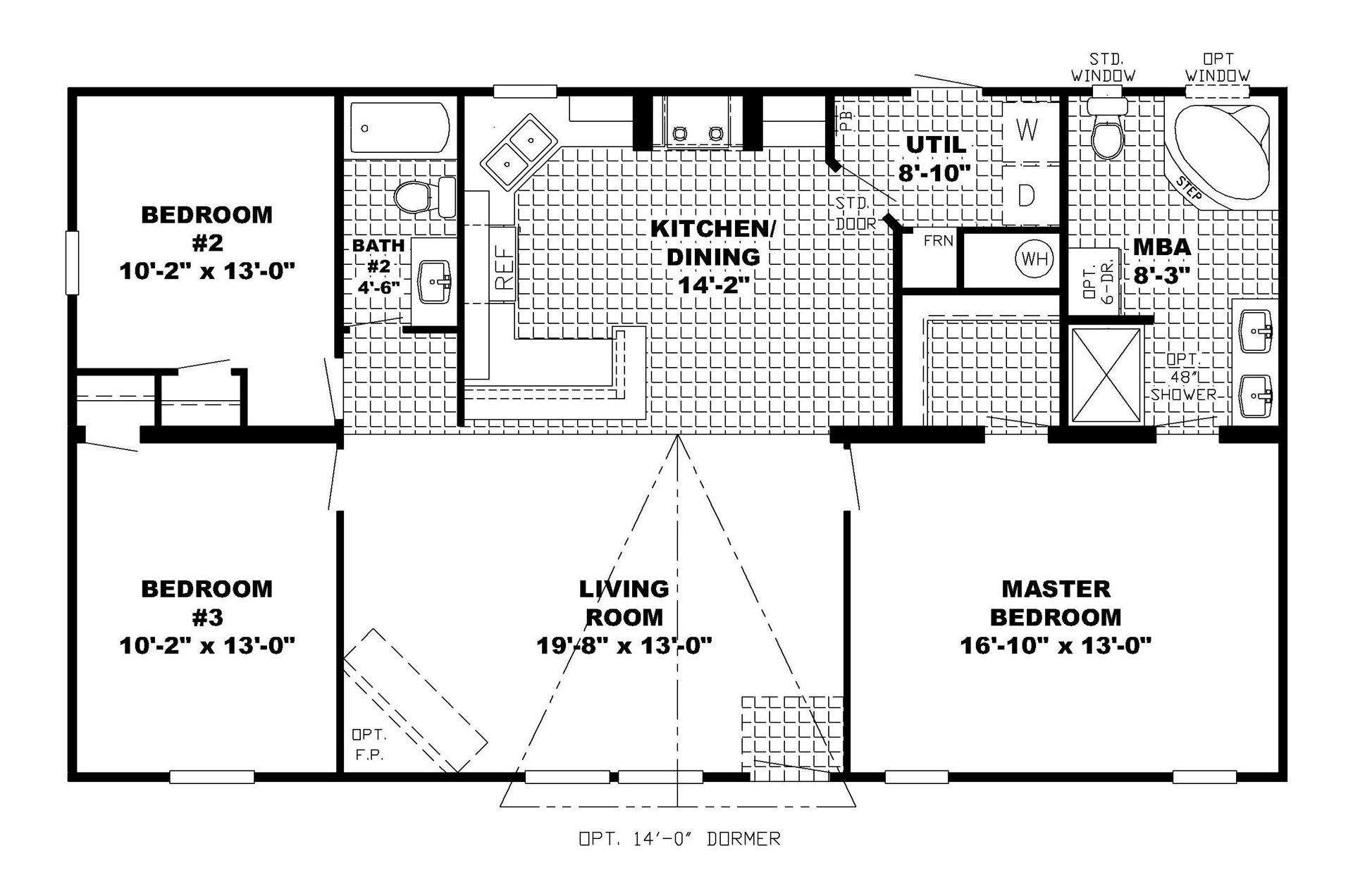 Floor Plans Ranch Style Homes Basement Home