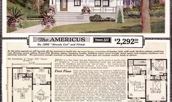 Floor Plans Sears Kit House Home Designs