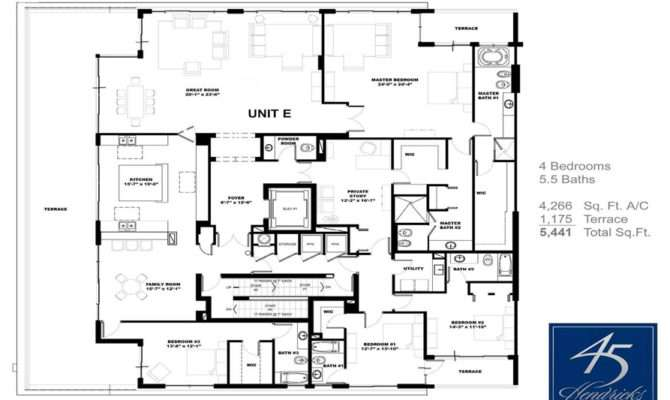 Floor Plans Waterfront Penthouse Fort Lauderdale