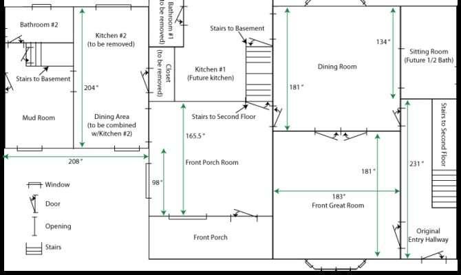 Floor Simple House Plan Measurements