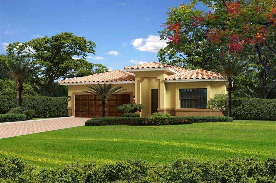 Florida Style Home Plan Bdrms House