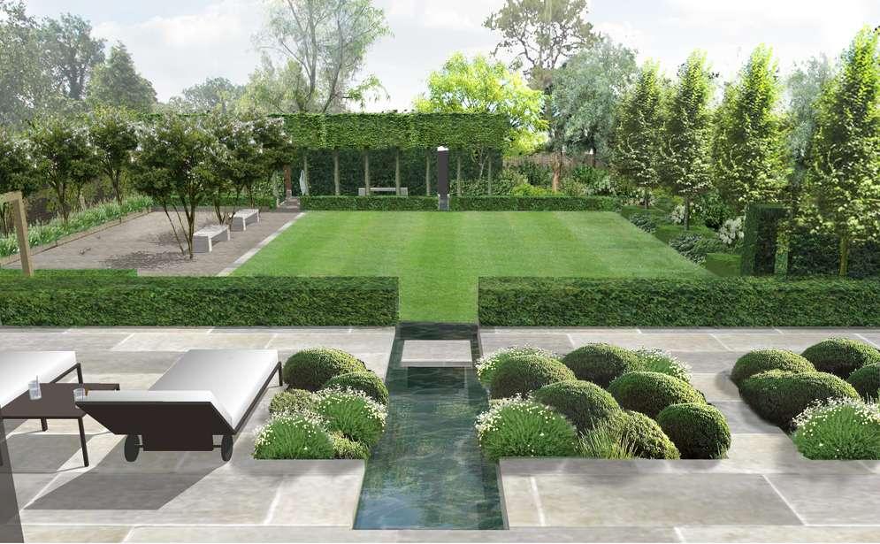 Formal Structural Garden Charlotte Rowe Design