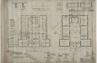 Foundation Plan Basement First Floor Heating Details