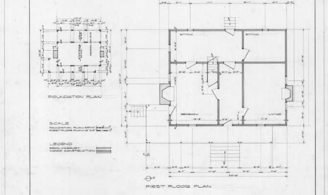 Foundation Plan First Floor Richardson Place Wake County