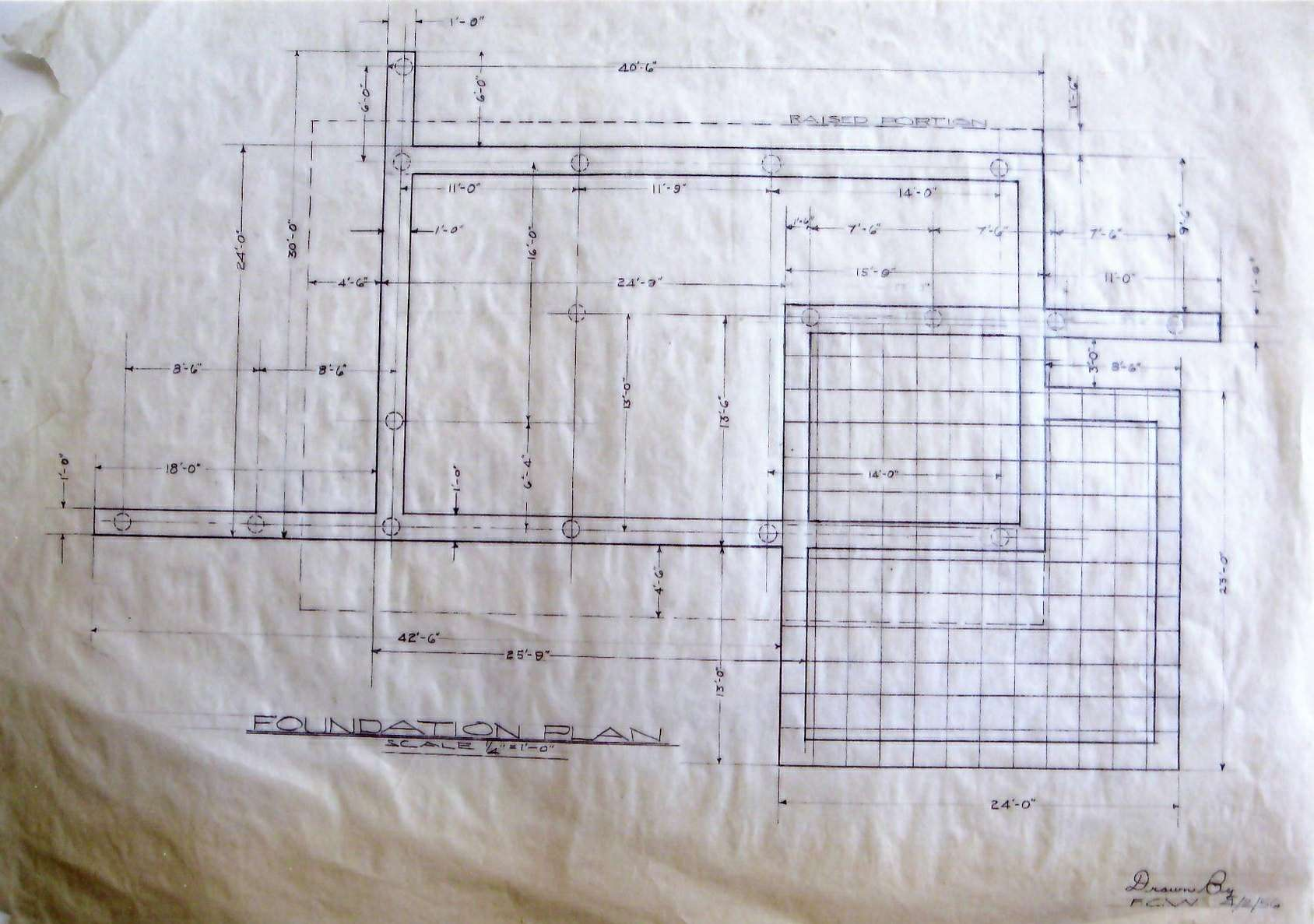 Foundation Plan Floating House Weems Collections