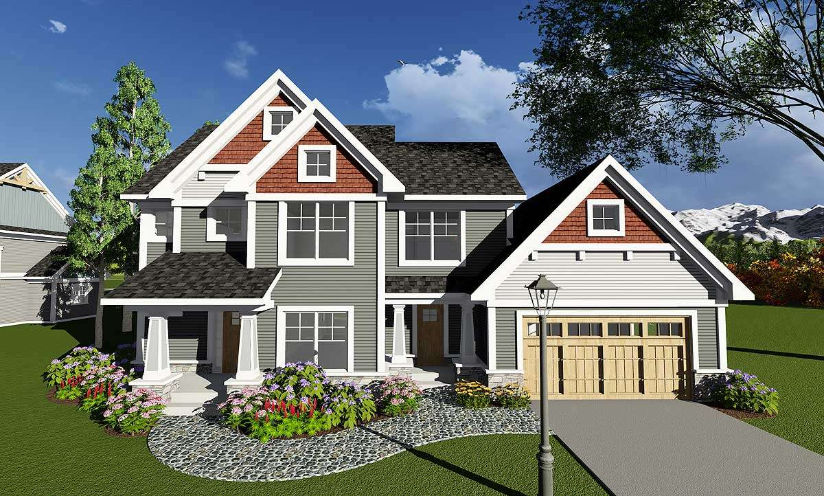 Four Bedroom Craftsman Den Architectural