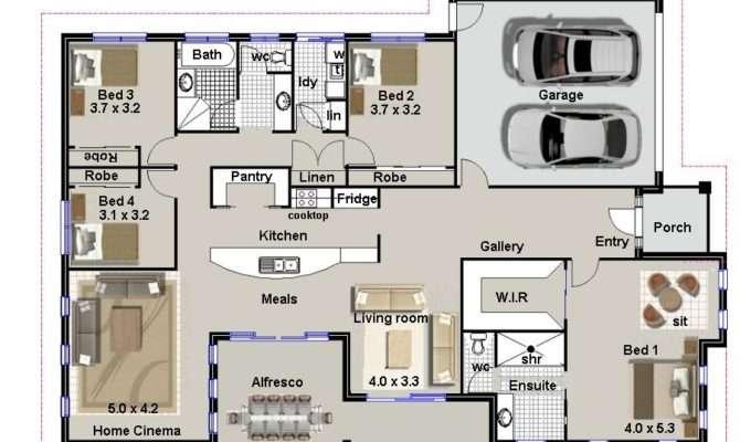 Four Bedroom House Plans Custom Photos