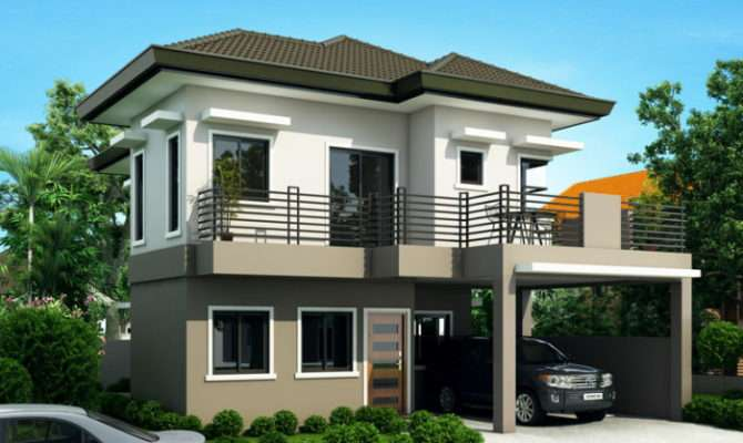 Four Bedroom Two Story House Design Pinoy Eplans Modern