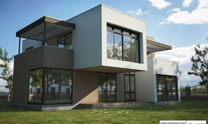 Four Bedrooms Modern House Design Maramani