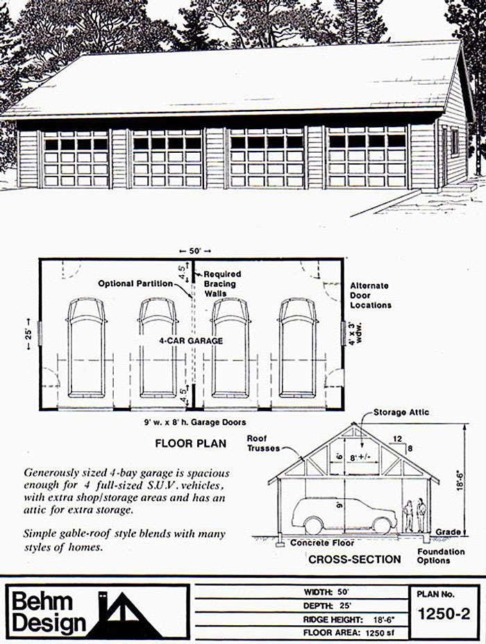 Four Car Garage Home Desain