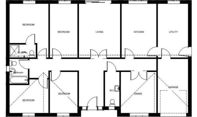 Fownhope Detached Bungalow Designs Plans
