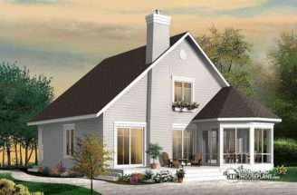 Frame Bedroom Cottage House Plan Drummond Plans Blog