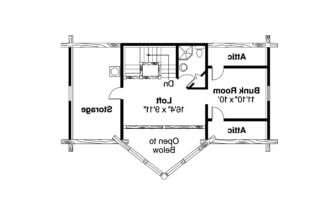 Frame House Plan Chinook Floor