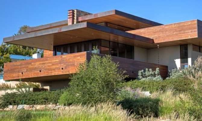 Frank Lloyd Wright Inspired House Plans Houzz