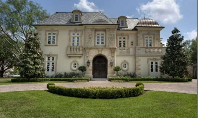 French Chateau Houston Texas Homes European Old World Styles