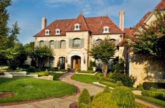 French Chateau Manor Homes Floor Length Windows Balcony France