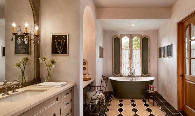 French Country Estate Mediterranean Bathroom Phoenix