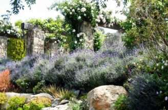 French Country Garden Lavender Luxurious Sweep