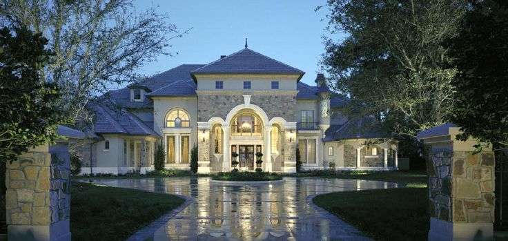 French Country Homes Style Chateaux Castle Luxury Plan