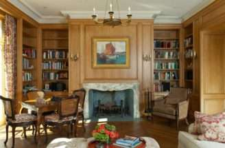 French Country House Living Room John Malick Associates