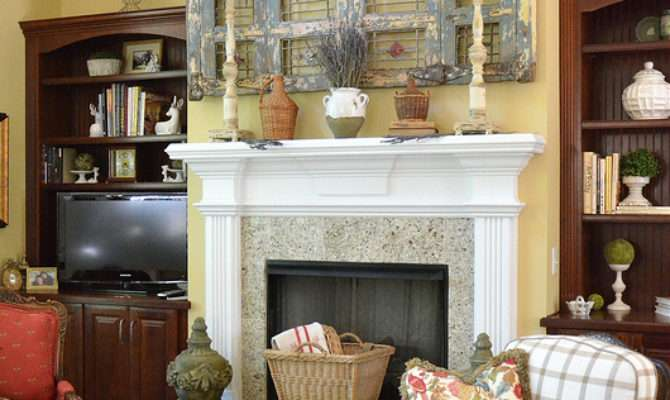 French Country Mantel Vignette