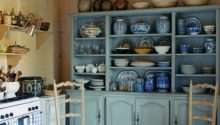 French Country Open Shelves