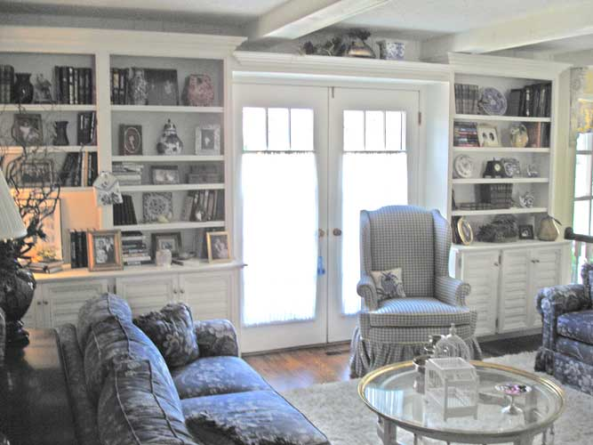 French Country Style Room Bookcases