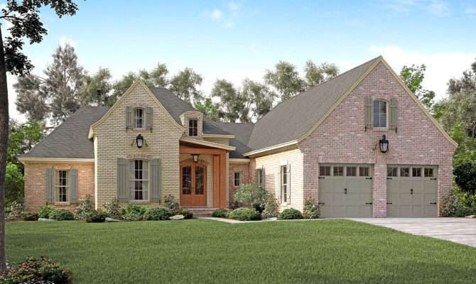 French House Plan Bedrm Home