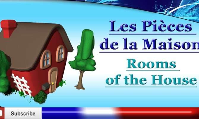 French Lesson Learn Rooms House Vocabulary