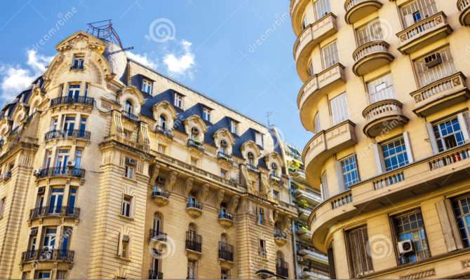 French Style Architecture City