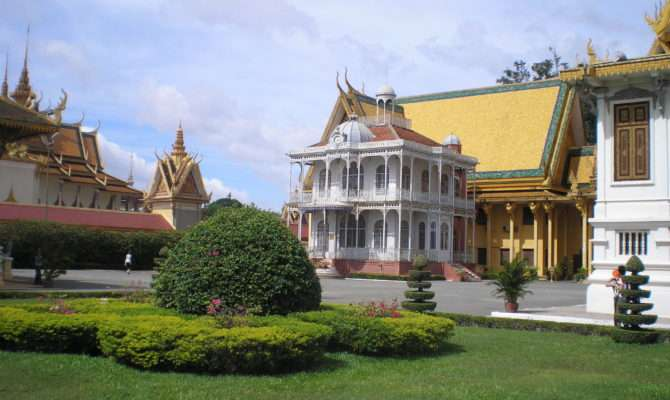 French Style Building Royal Palace Phnom Penh