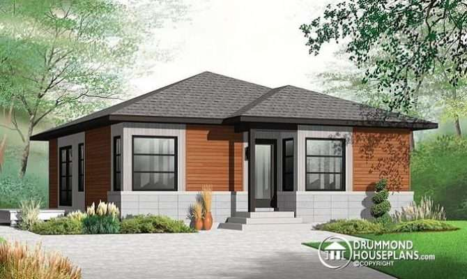 Front Base Model Small Modern Economical Open Concept Bungalow