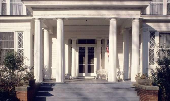 Front Door Portico Somerville Graham House Warrenton North
