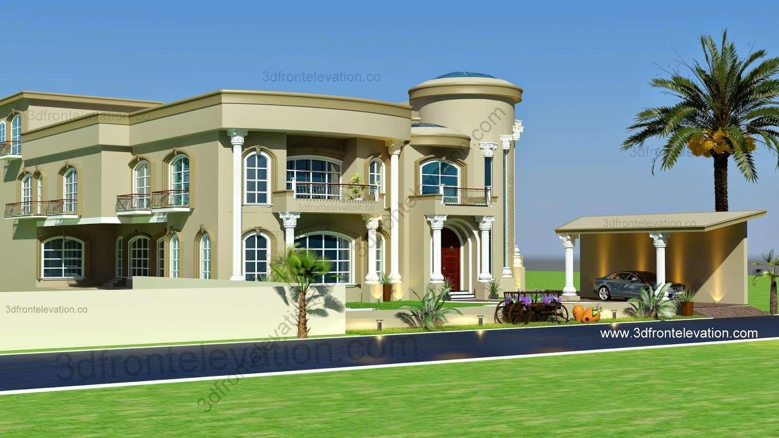Front Elevation Beautiful Modern Villa Design