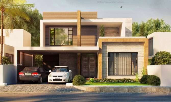 Front Elevation Marla Modern House Plan
