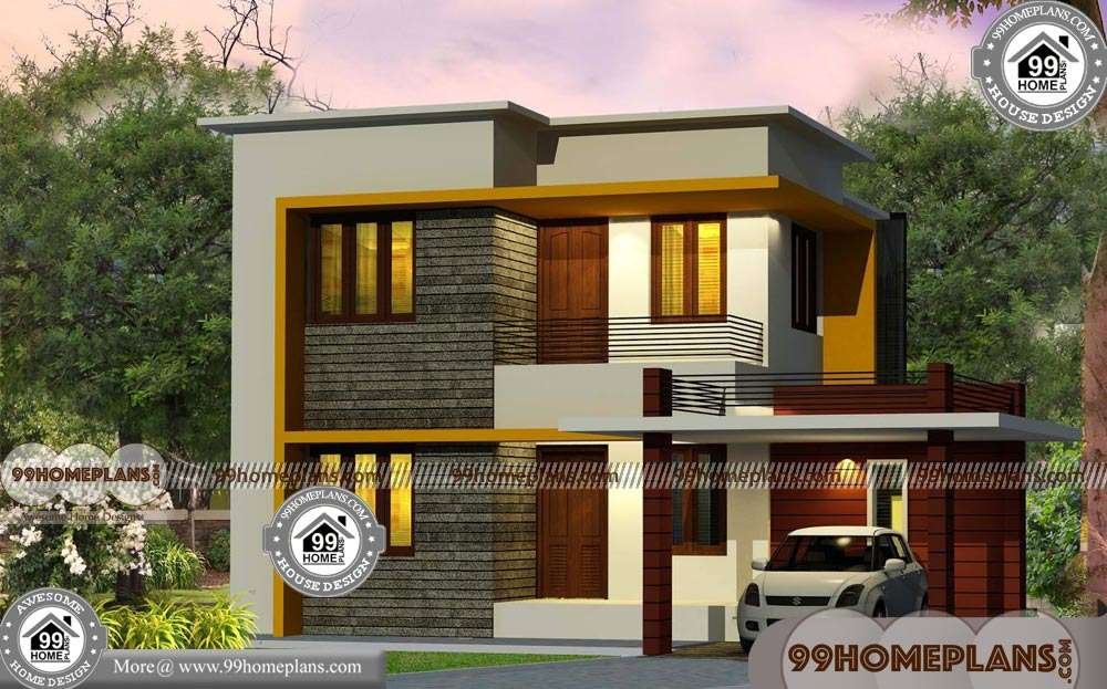 Front House Design India Two Story Box Type Simple