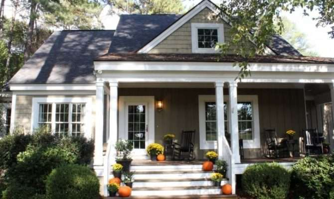 Front Porch Decorated Fall Love Her Cottage Style Home Built