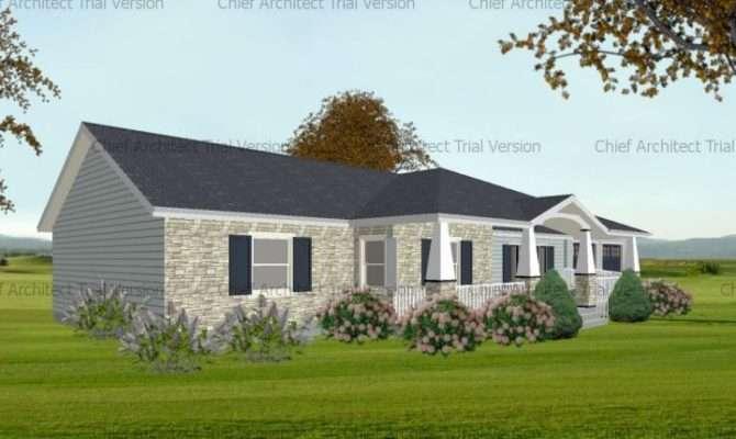 Front Porch Design Idea Double Gables