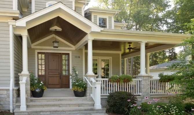 Front Porch Designs Exterior Traditional Bay Window Brick Wall
