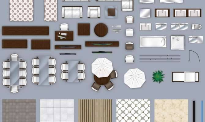 Furniture Floorplan Top Down Style Model
