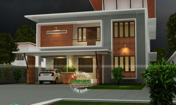 Fusion Flat Roof House Plan Kerala Home