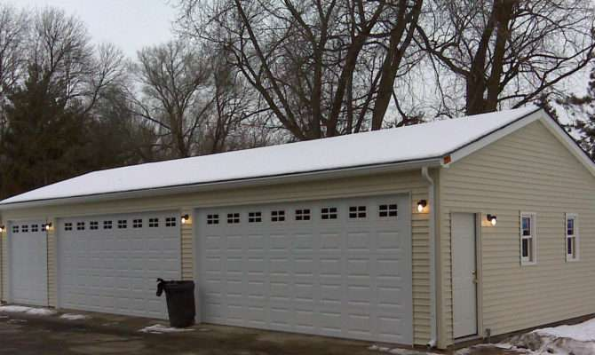 Gable Garages Hip Reverse Flat Roof Deck