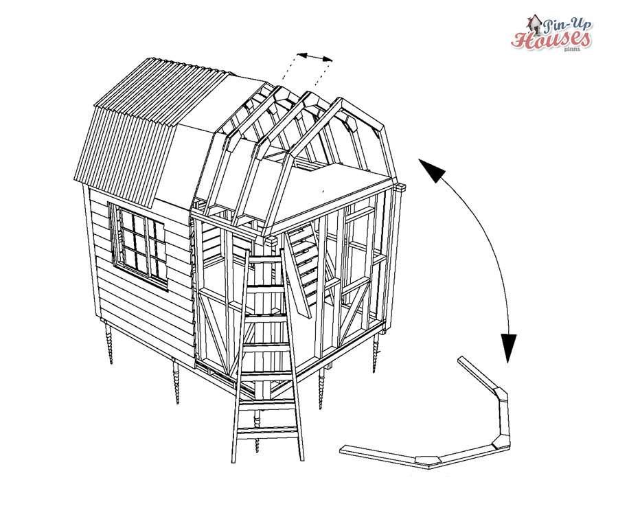 Gambrel Roof Framing Timber Construction