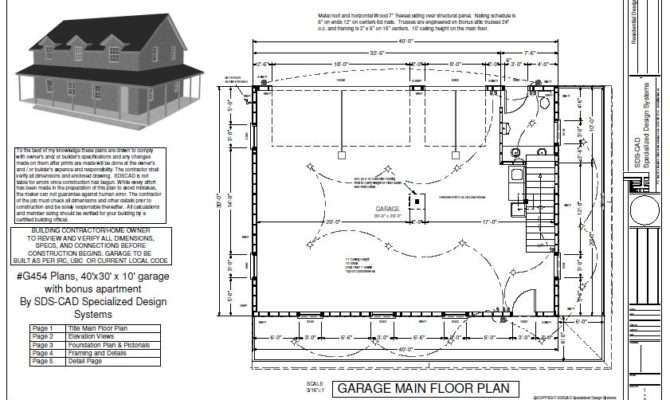Garage Apartment Plans Floor
