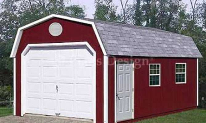Garage Building Storage Shed Barn Roof Style